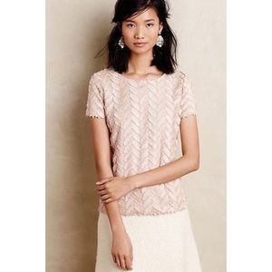Anthropologie Weston Wear Fringe Top XS
